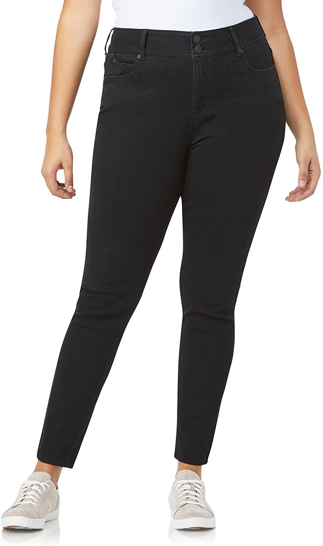 WallFlower Women's Plus Size Essentials Instastretch Luscious Curvy Skinny