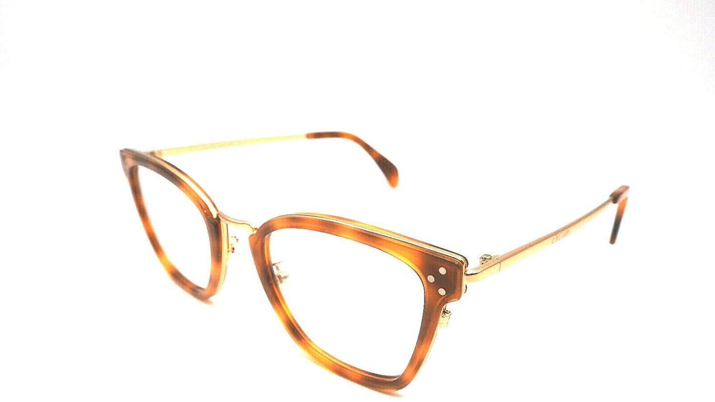 Celine CL50002U - 053 METAL Eyeglass Frame Gold/Light Tortoise 51mm