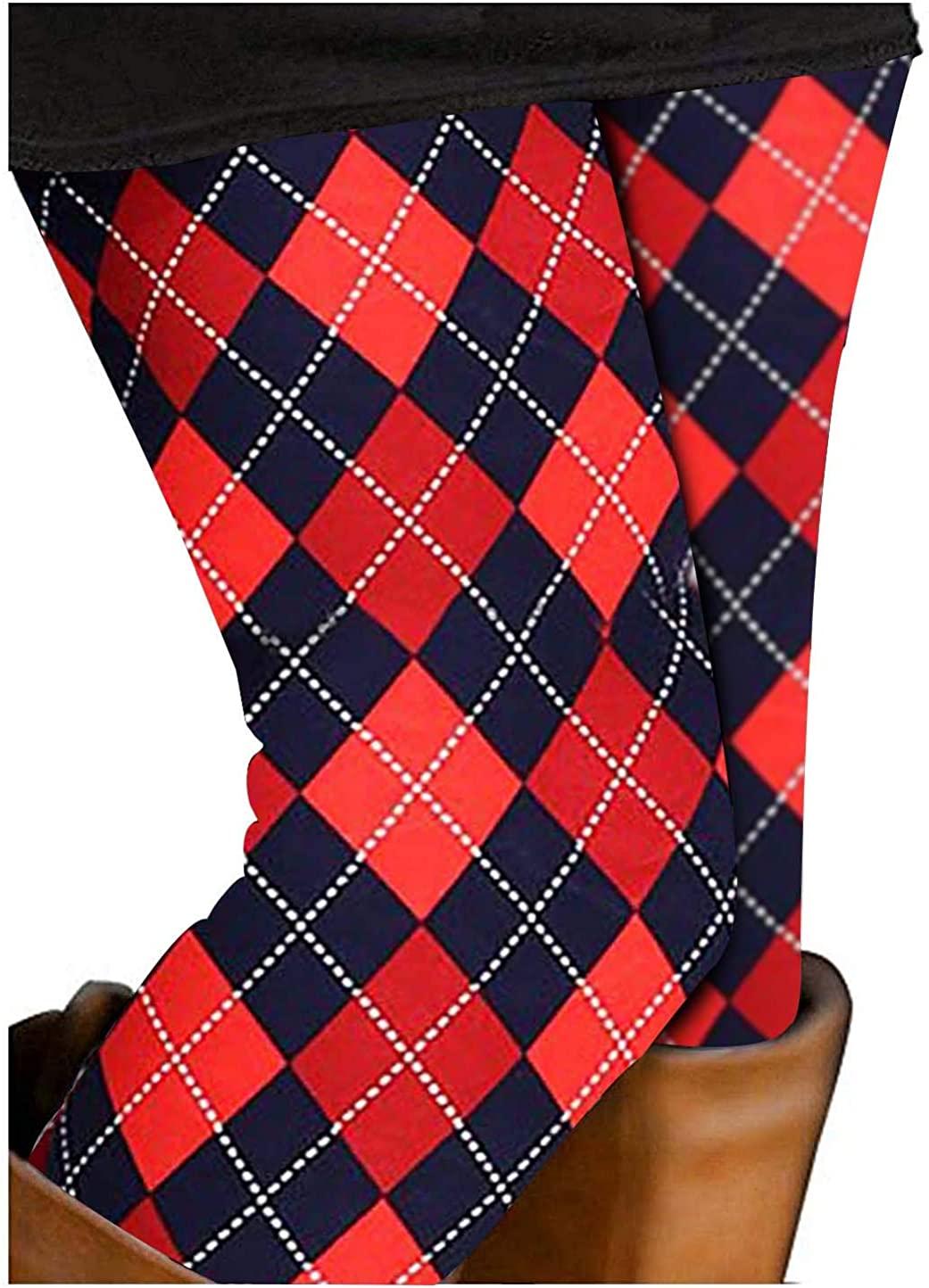 DREAGAL Women's Digital Print Ankle Length Footless Design Leggings