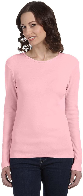 Ladies 5.8 oz, 1x1 Baby Rib Long-Sleeve T-Shirt