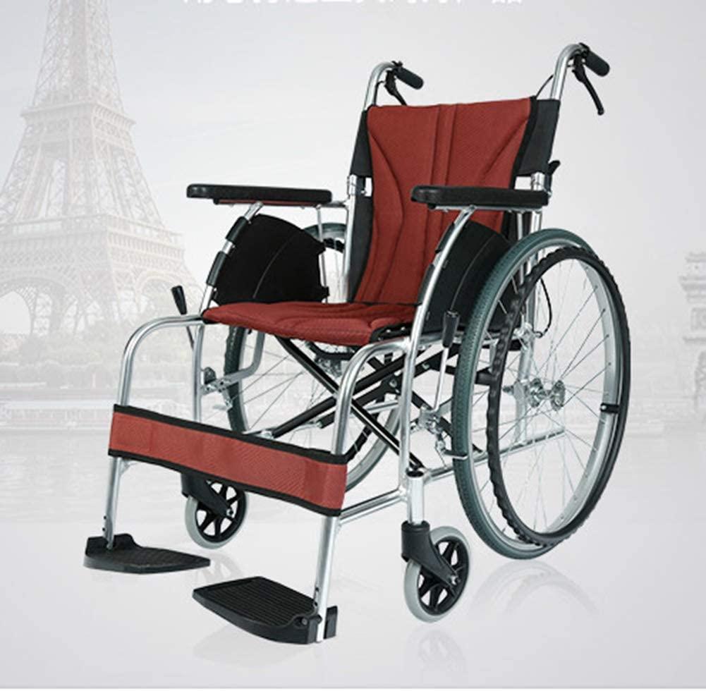WLG Wheelchair Folding Light Portable Aluminum Alloy Small Elderly Travel Ultralight Scooter Dri