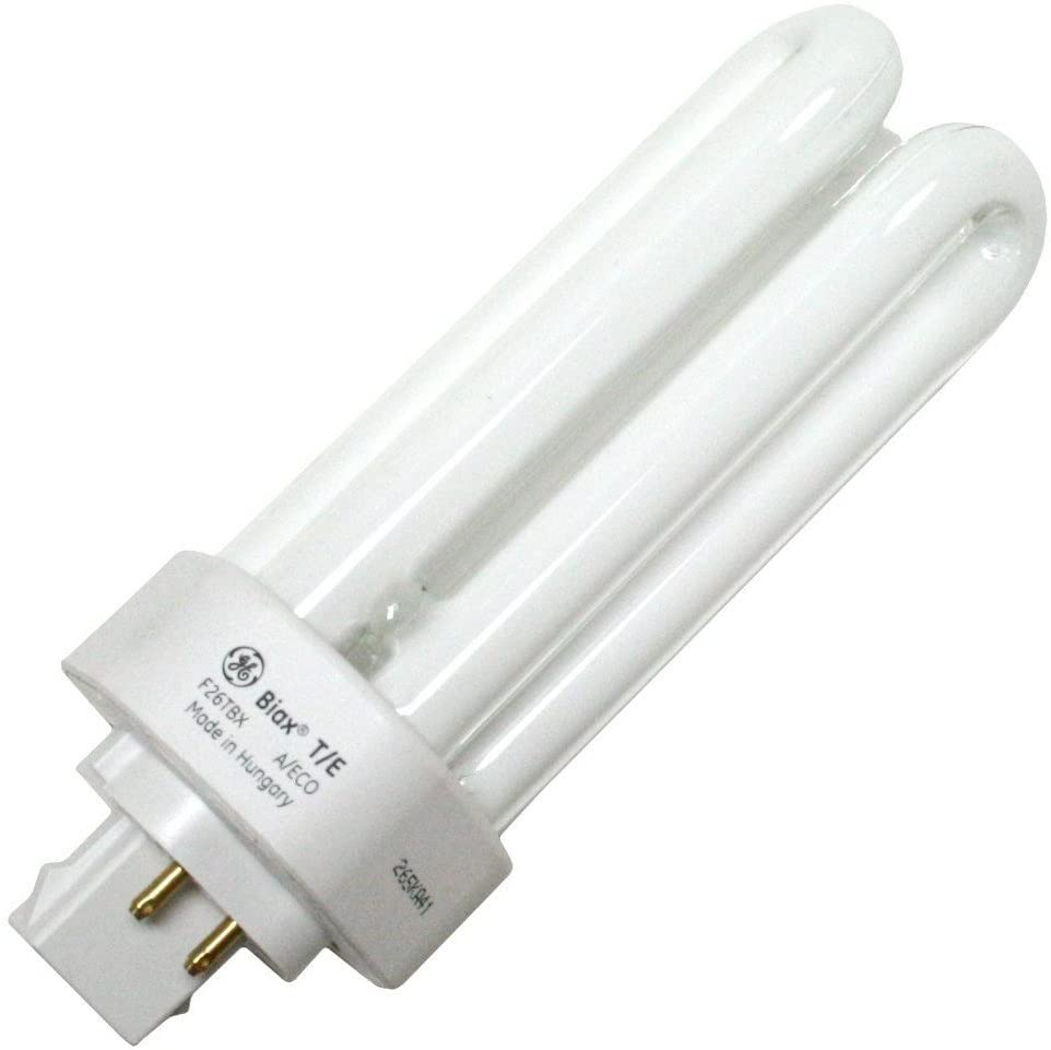 GE 97616 (10-Pack) F26TBX/835/A/ECO 26-Watt Energy Smart Ecolux Triple Tube Compact Fluorescent Light Bulb, 3500K, 1710 Lumens, 82 CRI, T4 Shape, GX24q-3 Base