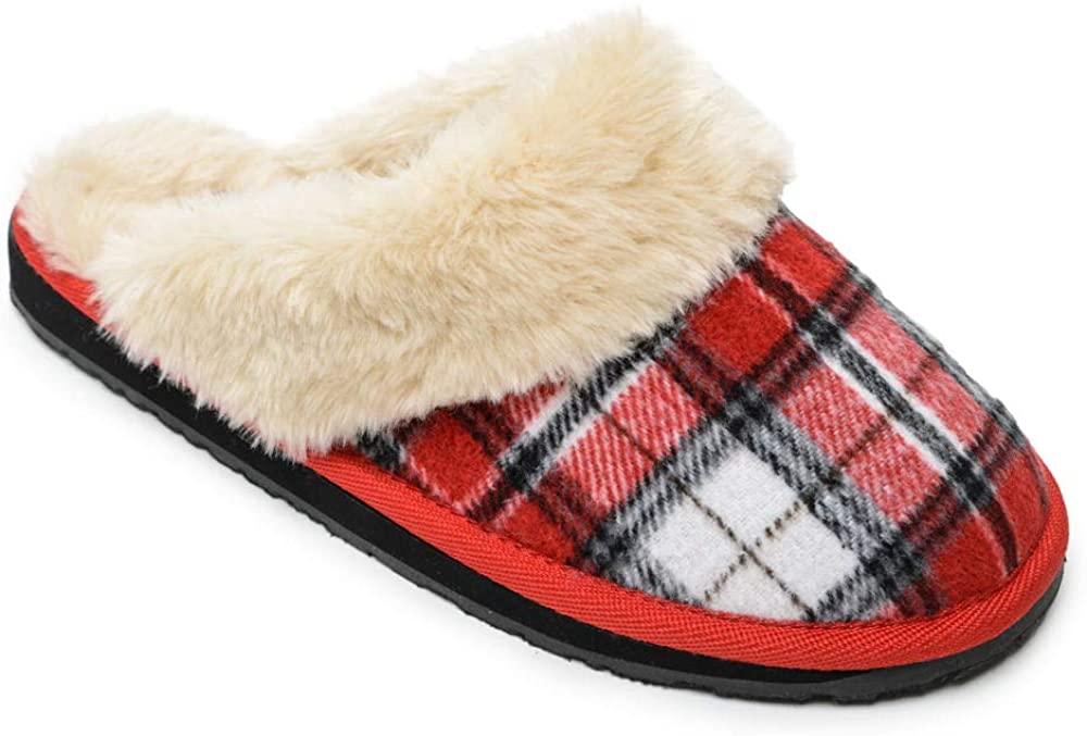 Minnetonka Womens Holiday Scuff Slipper