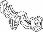 Automotive Connectors Conduit Clip Rosebud 6.35Dia