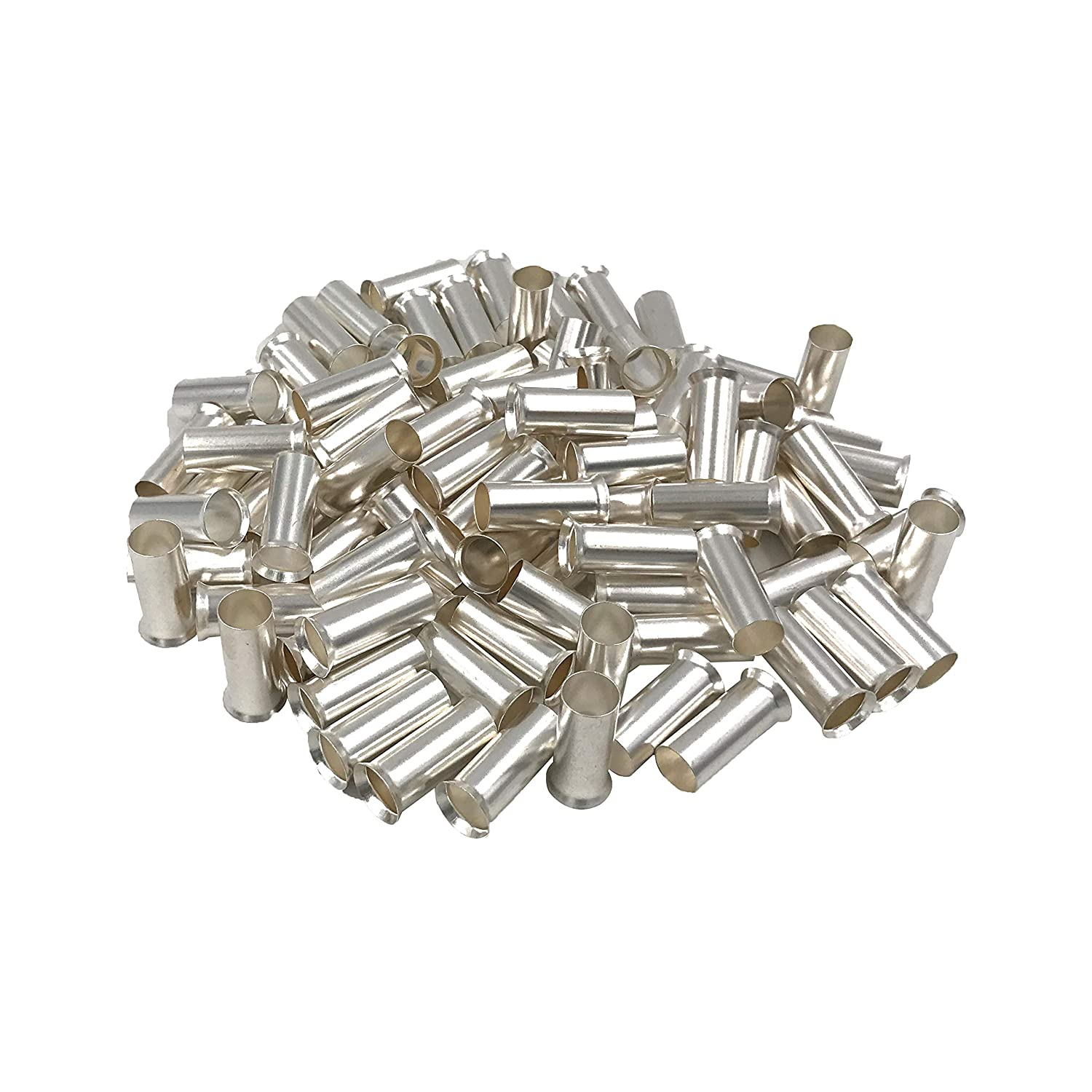 100PCS Wire Copper Crimp Connector Non Insulated Cable Housing Ferrule Pin Cord End Terminal AWG 4 / 25mm² Long: 20(.787)mm