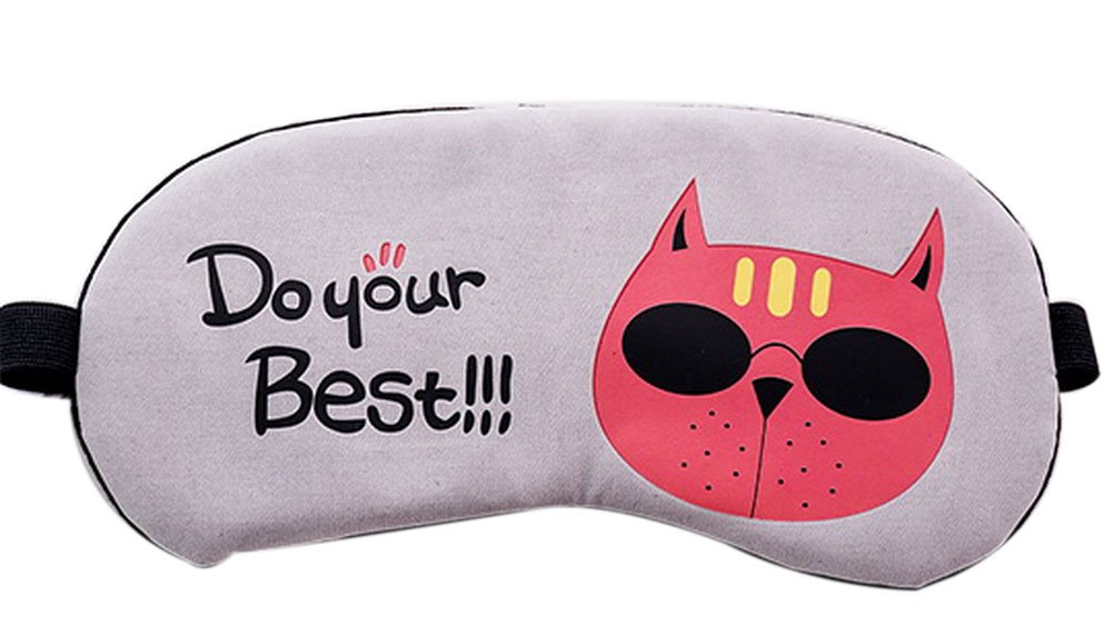 Breathable Cute Men And Women Sleeping Eye Masks, Cats Wearing Sunglasses
