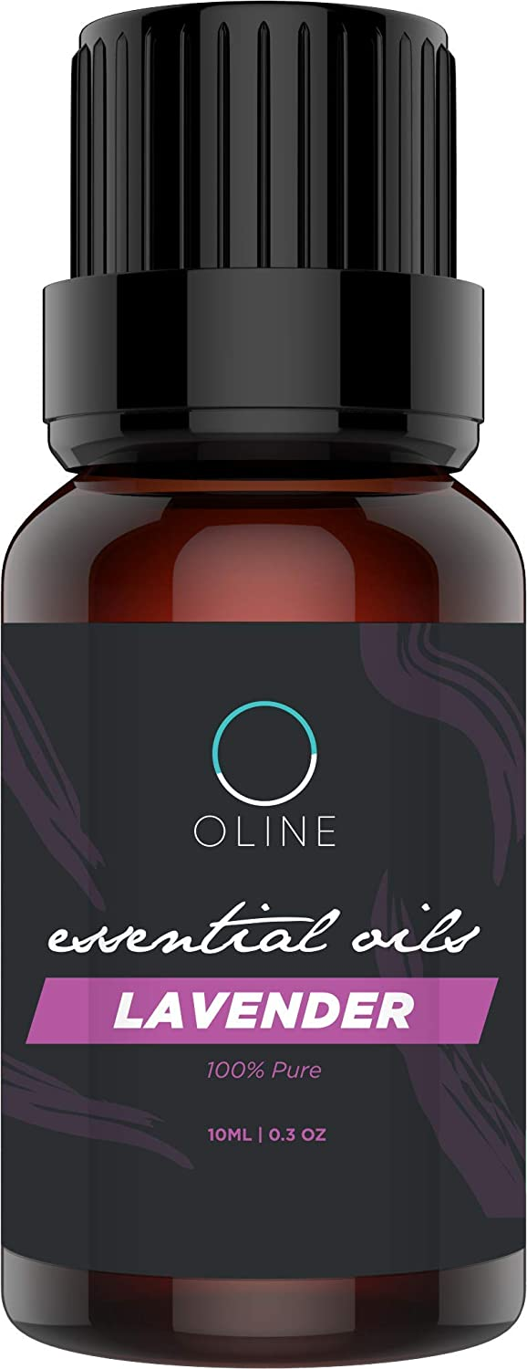 Oline Naturals Lavender Essential Oil - 100% Pure Therapeutic Grade - Best For Oil Diffuser, Massage