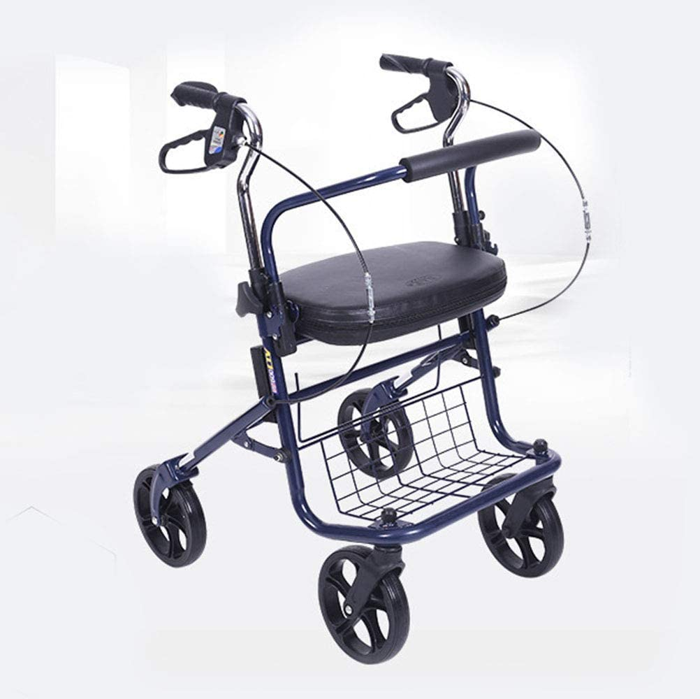 HTL Walking Aid Lightweight Folding Adjustable Booster, Old Shopping Cart Walker Walker