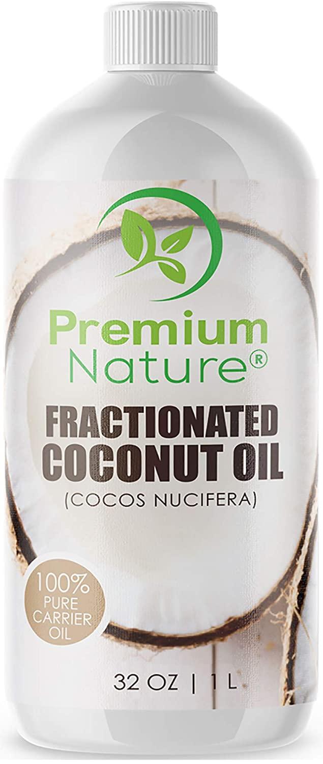 Fractionated Coconut Oil Massage Oil - Cold Pressed Pure MCT Oil for Essential Oils Mixing Dry Skin Moisturizer Natural Carrier Baby Oil for Face Hair & Body Therapeutic Aromatherapy Raw 32 oz