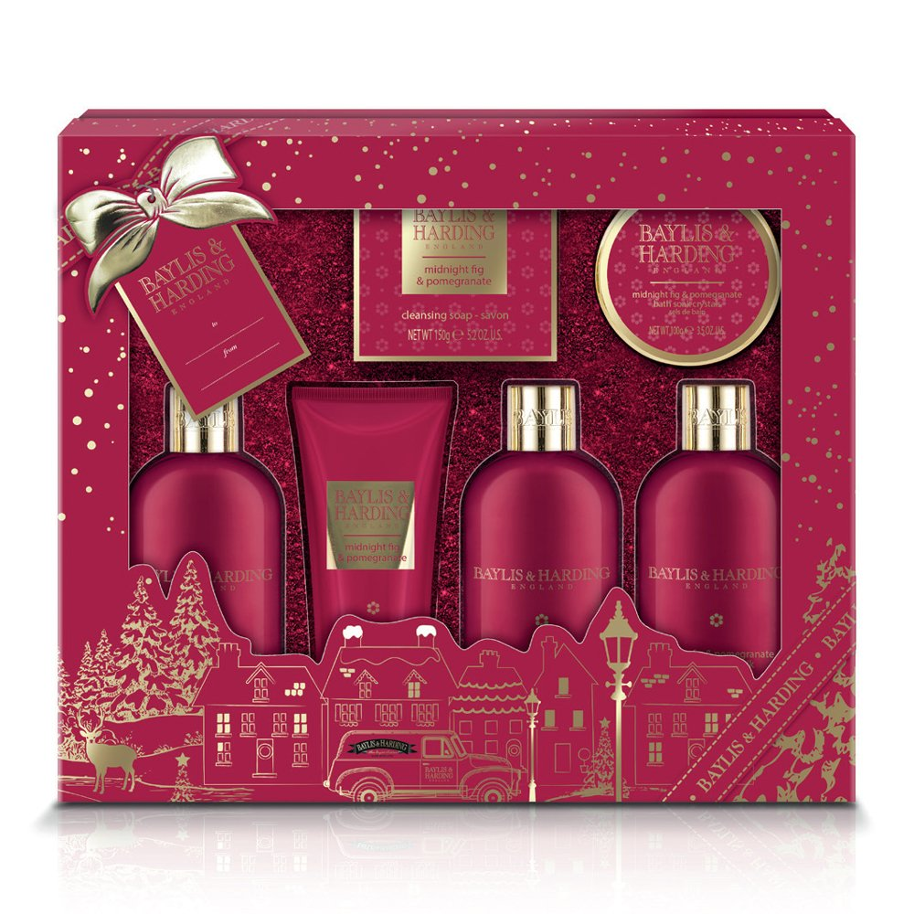 Baylis & Harding Ultimate Bathing Gift Set, Midnight Fig/Pomegranate