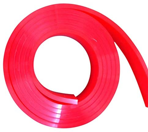 6 FT/Feet Roll - 60 Durometer - Silk Screen Printing Squeegee Blade RED