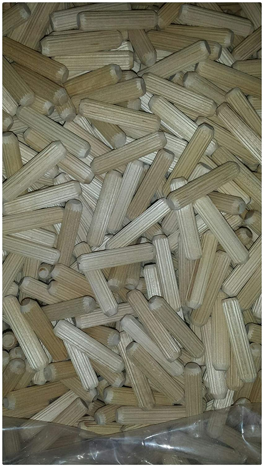 50 Pcs 7/16 x 2 Straight Fluted Wooden Dowel Pins Fluted Dowel Pins for Furniture