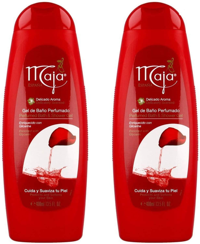 Maja Bath and Shower Gel-Gel De Bano Perfumado 13.5 oz. 2-PACK