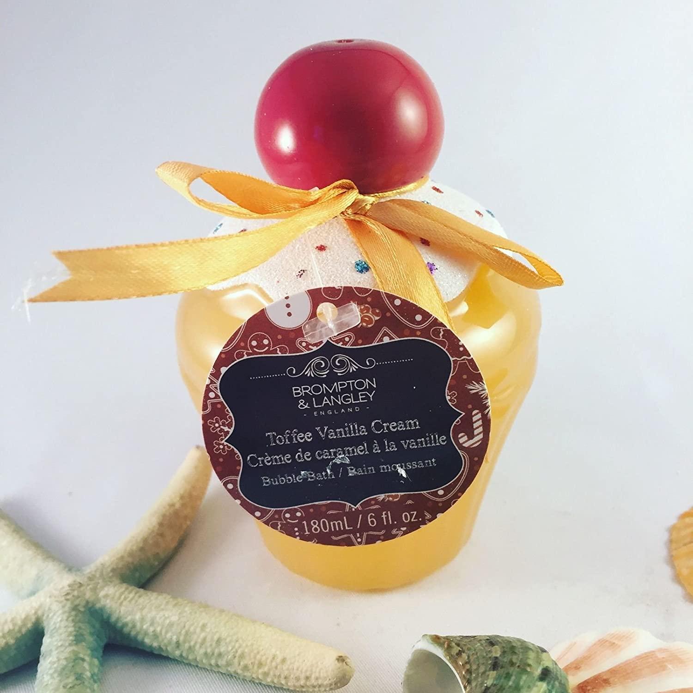 BROMPTON & LANGLEY Special Edition Cupcake Bubble Bath in Toffee Vanilla Cream Fragrance 6 fl. oz.