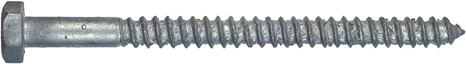 The Hillman Group 812098 Hot Dipped Galavanized Hex Lag Screw, 1/2 X 4-Inch, 25-Pack
