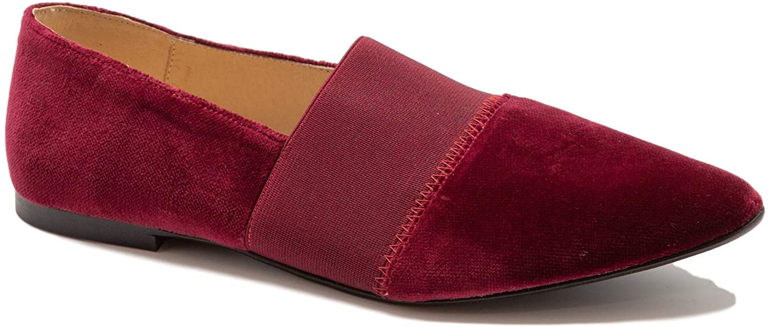 Blublonc Women's Elastic Velvet Slide Pointed Toe Loafer