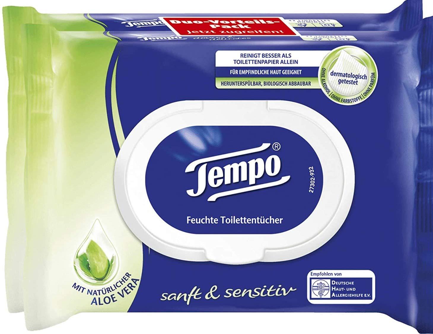 Moist Toilet Paper gentle & nourishing Aloe Vera, 2 x 42 towels