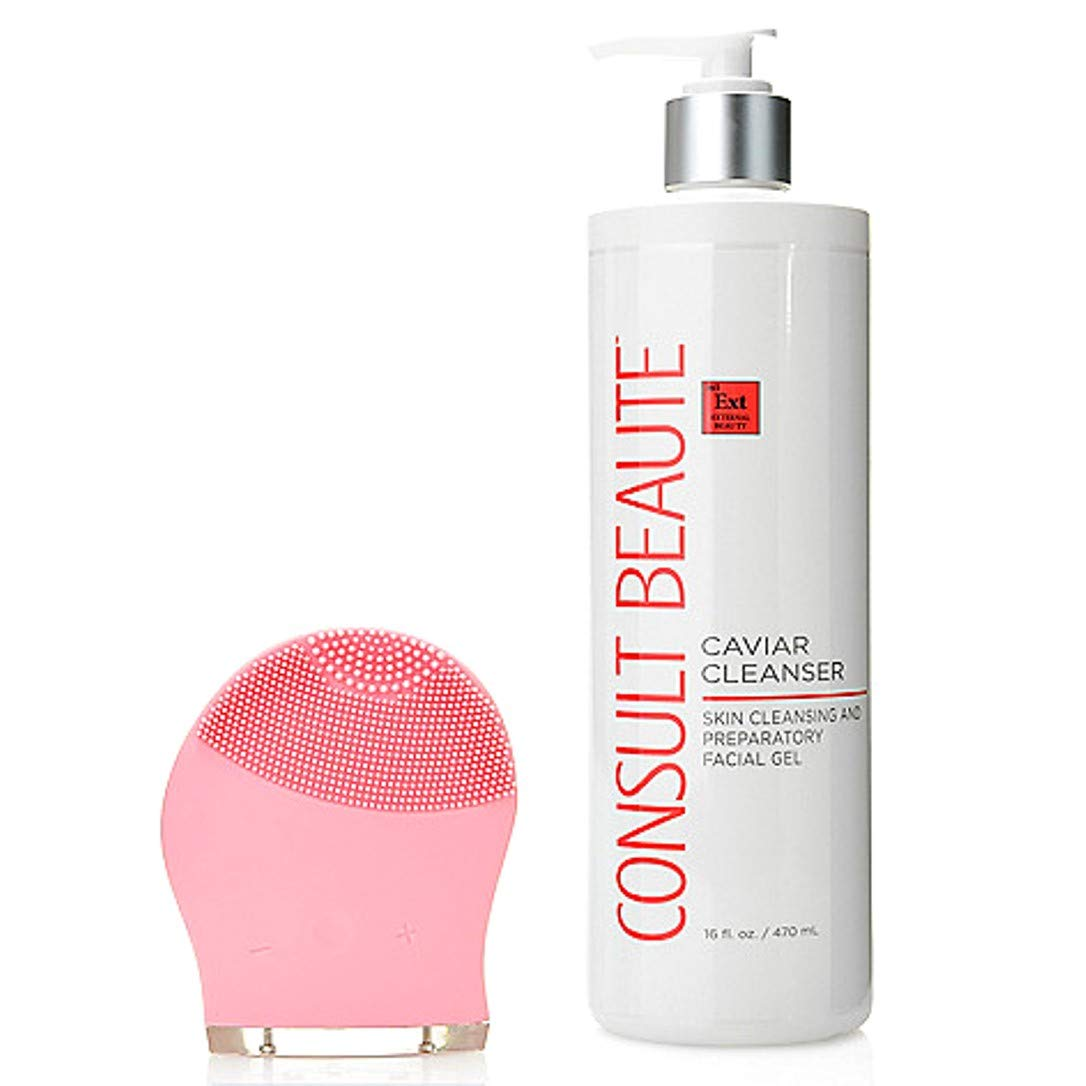 Consult Beaute Multi Speed Sonic Cleansing Tool w/Caviar Cleanser PINK