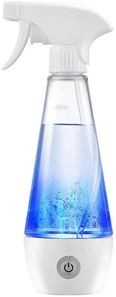 Y&J Portable Detergent Maker Spray Bottle– Multipurpose Household Sodium Hypochlorite Generator Machine 84 300ML Cleaning Water Machine(Transparent White) 300ml