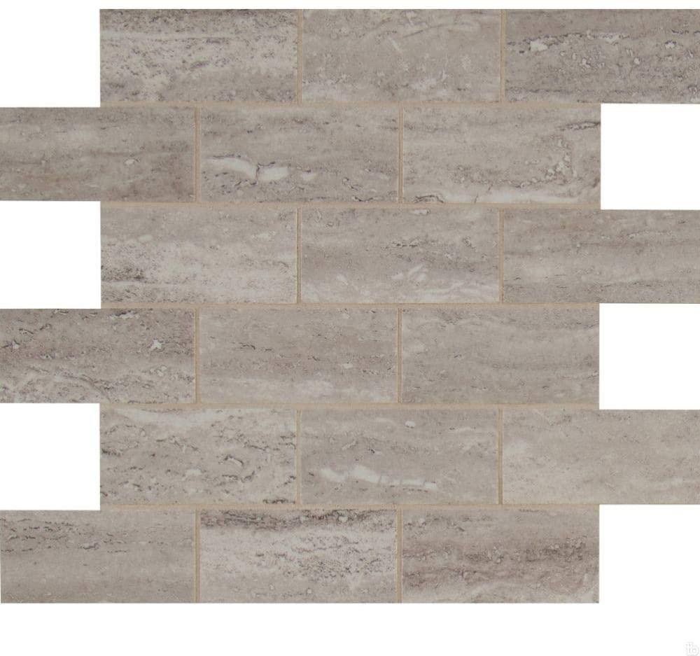 Pietra Venata White 2X4 Polished Mosaic,20 SFT/Case(20 Pcs)
