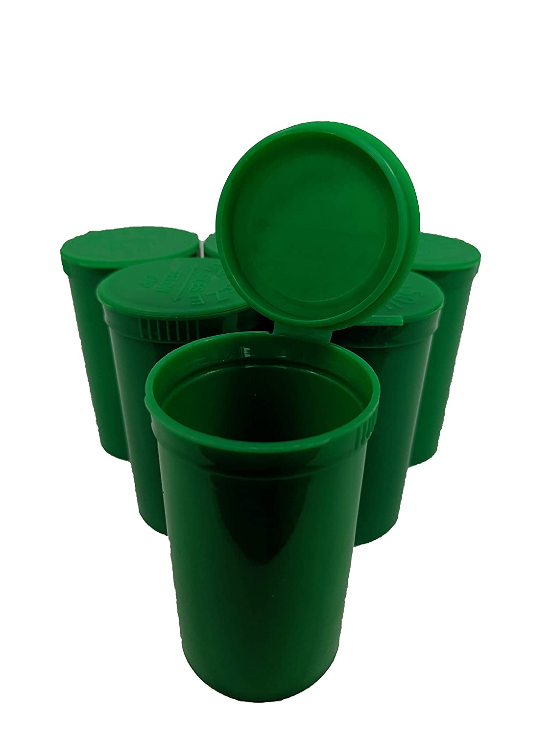 Full Case of 225-Green 19 Dram Pop Top Bottle Rx Vial Medical Grade Pill Box Herb Container