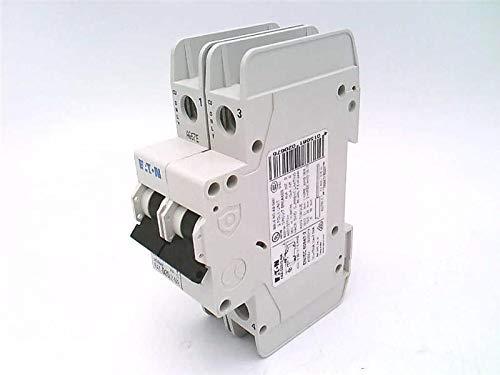 CUTLER HAMMER FAZ-D20/2-NA 20 AMP, 2 Pole, 480Y/277 VAC, D Curve, Miniature Circuit Breaker, DIN Rail Mount, Current LIMITING