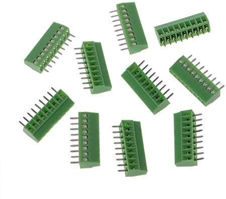 Heat Shrink Connectors Kit 2-10Pin Screw PCB Mounted Terminal Blocks Connector 2.54mm Pitch 10pcs (Color : 7pin)