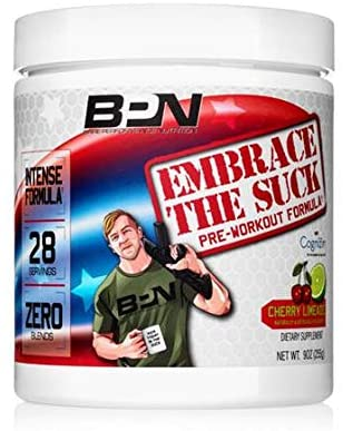 Bare Performance Nutrition, Embrace The Suck Intense Pre-Workout, Trademark Ingredients, Zero Blends, Intense Energy, Focus, Improved Concentration, Mood & Attention (28 Servings, Cherry Limeade)