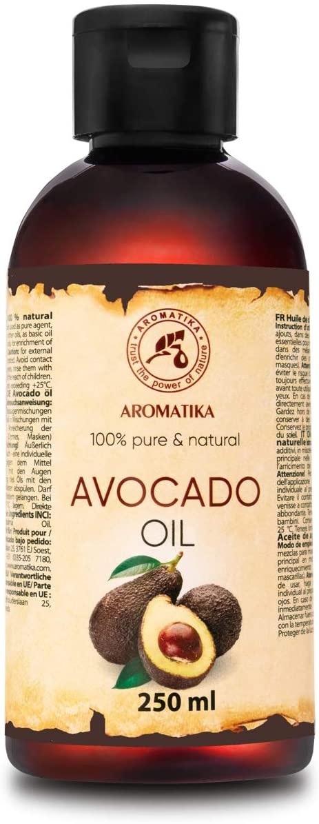 Avocado Oil 250ml - Persea Gratissima Oil - South Africa - 100% Pure & Natural - Best Benefits for Skin - Hair - Body - Face Care - Massage