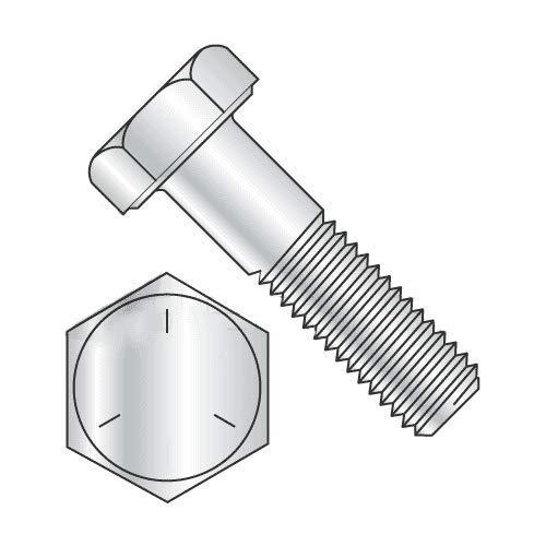Newport Fasteners Hex Bolts, Grade 5 Zinc Plated, 5/16