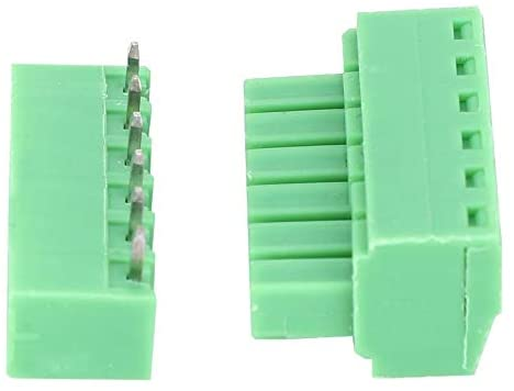 Davitu Terminals - 10 Pairs 6-Pin Screw Terminal Block 15EDG 3.81mm Pitch Male Female Pluggable Terminals crimp connector