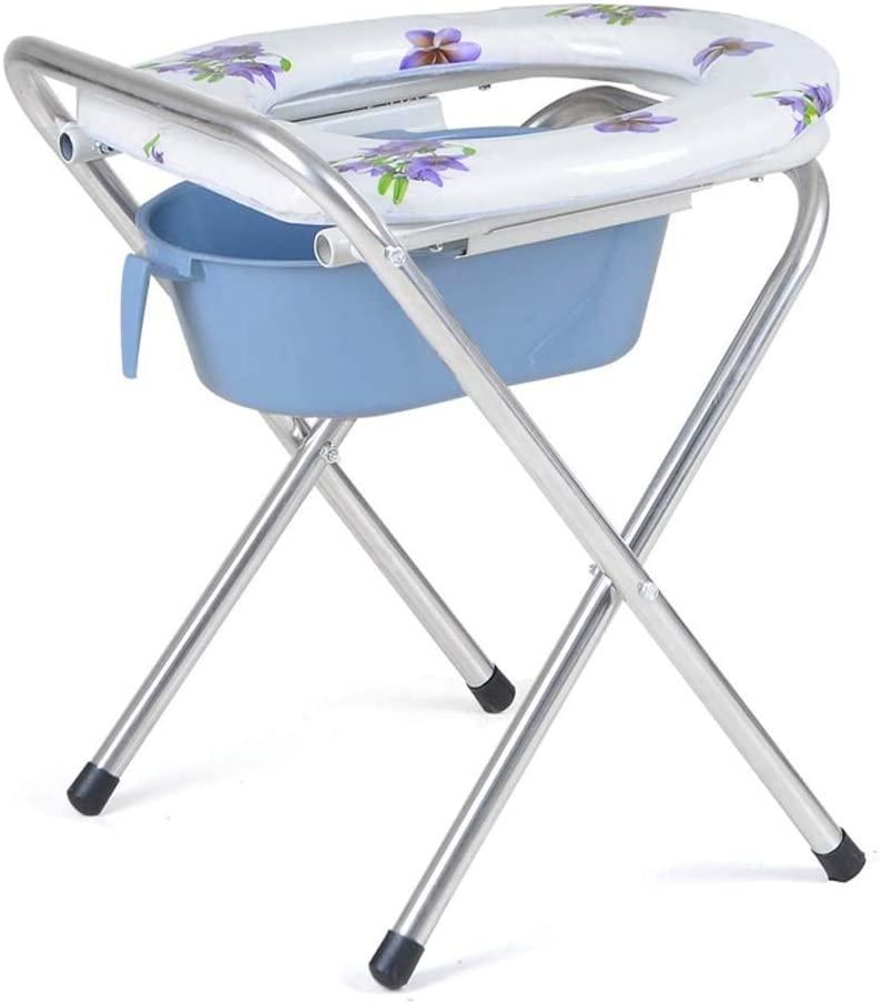 wheelchair Medical Rehab Chair, Wheelchair,Chair Bath Folding Stainless Steel Toilet Elderly Pregnant Women Mobile 31 36 46Cm