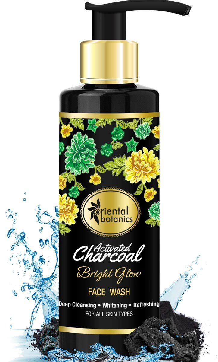 Oriental Botanics Activated Charcoal Bright Glow Face Wash 200ml - Deep Cleansing, Brightening & Refreshing