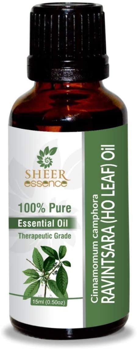 Ravintsara (Ho Leaf) Oil (Cinnamomum Camphora) Essential Oil 100% Pure Natural Undiluted Uncut Therapeutic Grade Oil 33.81 Fl.OZ