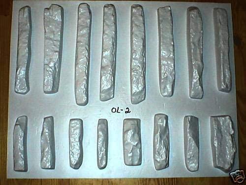 #ODL-02-16 Concrete LEDGESTONE MOLDS to Make 1000s of Stone Veneer Wall Stones