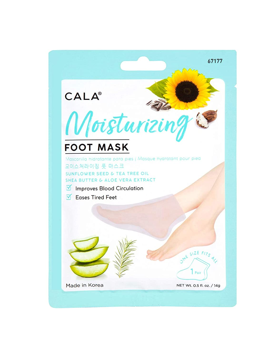 Cala Sunflower moisturizing foot mask 12 count, 12 Count