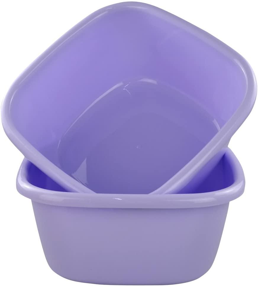 Jekiyo 16 Qt Purple Wash Basin, Large Plastic Tubs, 2-Pack