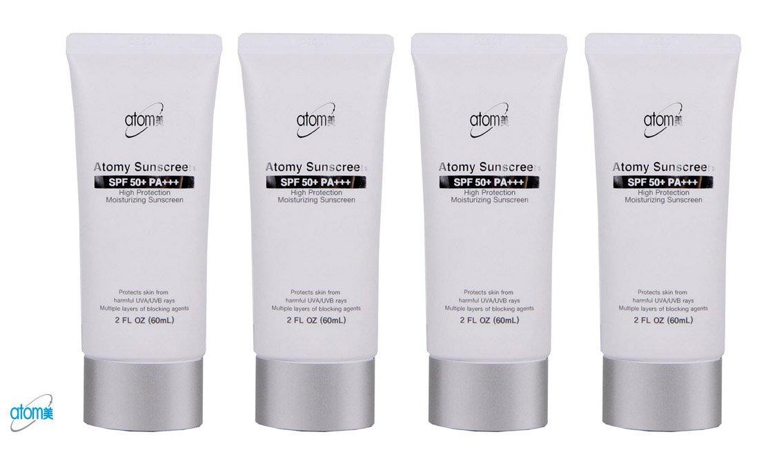 Atomy Sunscreen SPF 50 + Pa +++ Herb Skin Care Uv Sun Protection White 4 Pcs 1 Set Bundle