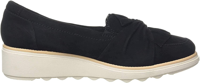 Clarks Women's Loafers, Beige Black Black, 7.5 US