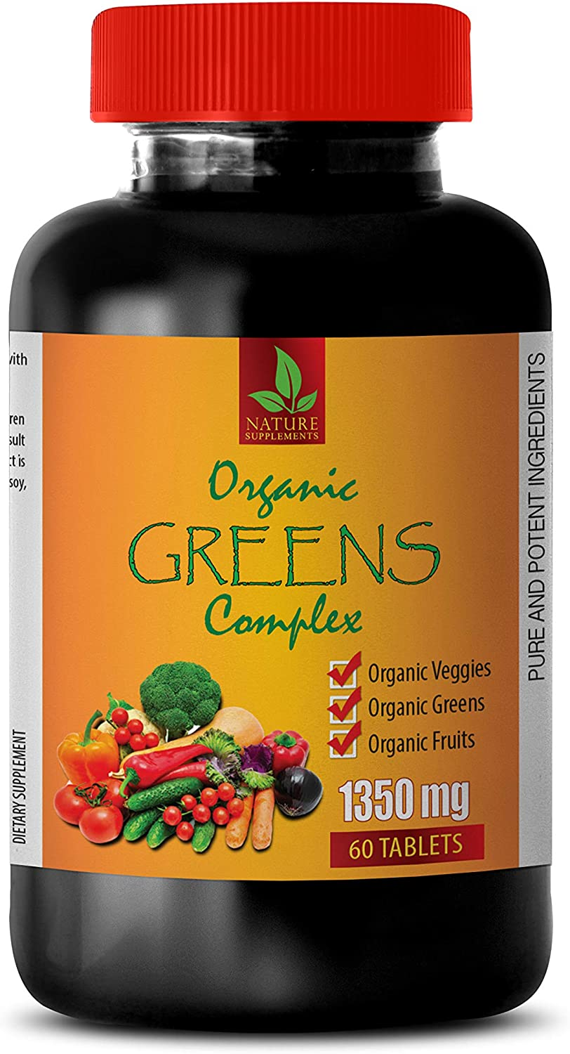 Immune System multivitamin - Greens Complex Organic 1350 MG - Parsley Extract Organic - 1 Bottle 60 Tablets