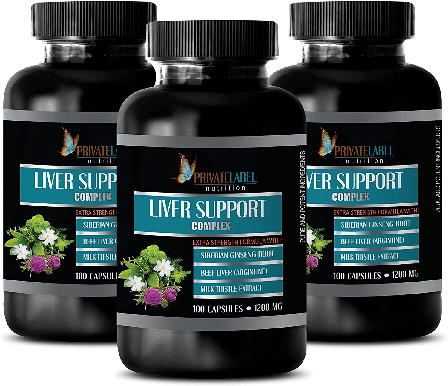 Liver Support Supplement for Men - Liver Support Complex 1200 MG - Extra Strength Formula - eleuthero Root Capsules - 3 Bottles 300 Capsules
