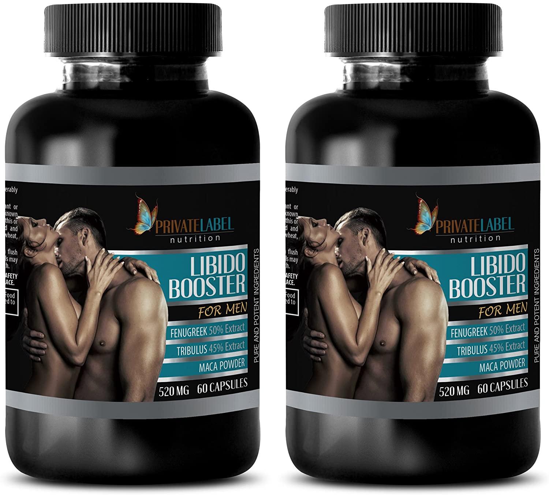 Muscle gain Pills - LIBIDO Booster for Men 520Mg - tribulus terrestris - 2 Bottles (120 Capsules)