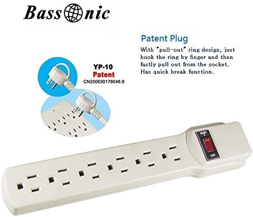 POWER STRIP WITH 6 OUTLETS YE-12-02