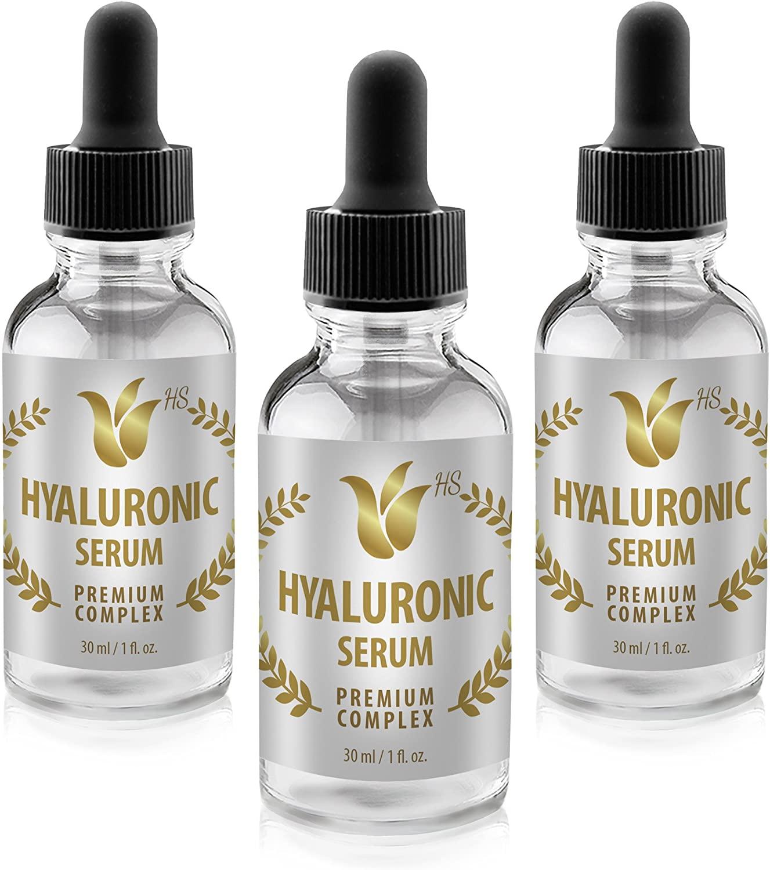 Wrinkle serum for Women - HYALURONIC SERUM Premium Complex - Serum for Skin - 3 Bottles
