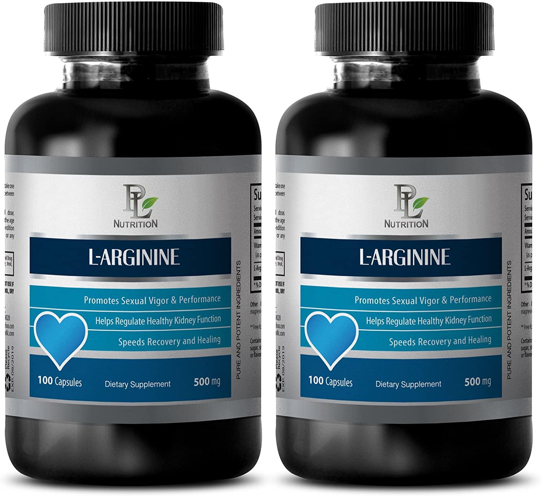 Natural libido Enhancer for Men - L-ARGININE (500Mg) - L-arginine Pills 500 mg - 2 Bottles 200 Capsules