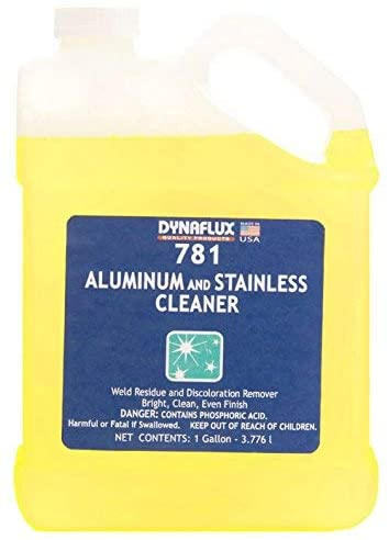 Dynaflux 781 Water Based Acid Aluminum and Stainless Steel Cleaner, 1 Gallon Bottle