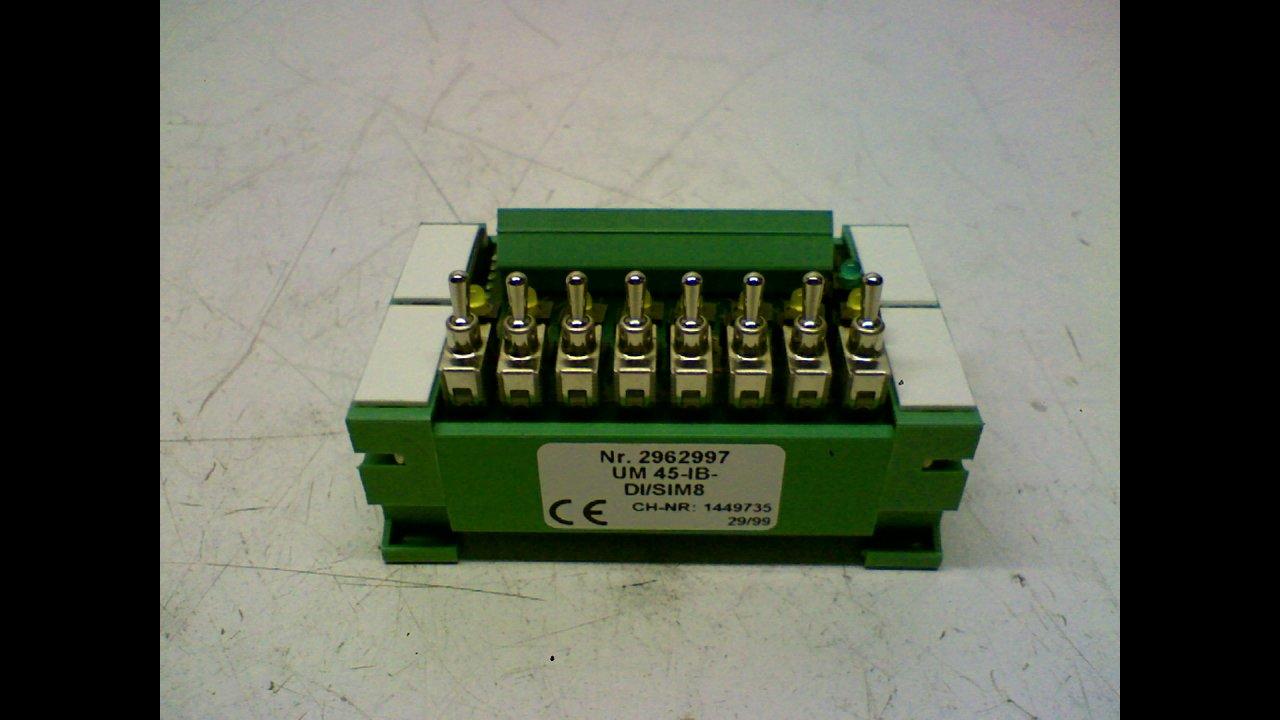 Phoenix Contact Um 45-Ib-Di/Sim8 Side Element with Foot Um 45-Ib-Di/Sim8 Series -