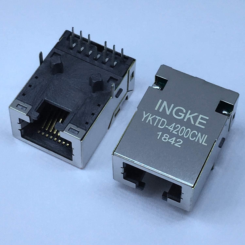INGKE YKTD-4200CNL 10GBase-T Tab Down RJ45 Modular Jack Connector(10GbE)