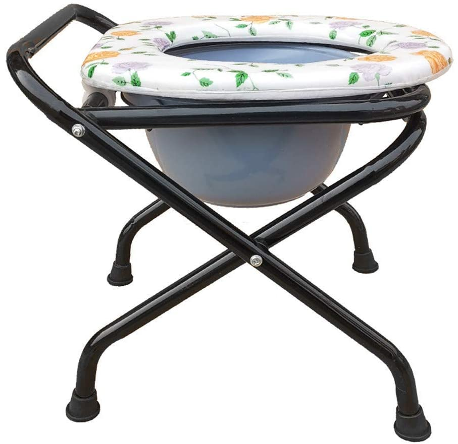 SSHHI Lightweight Commode Chair, Foldable Toilet Chair,Non-Slip Shower Chair,Suitable for The Elderly