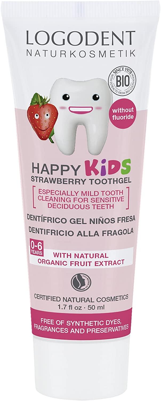 Logona Logodent Happy Kids Strawberry Tooth Gel, 50 ml